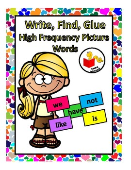 Write, Find, Glue   High Frequency Words
