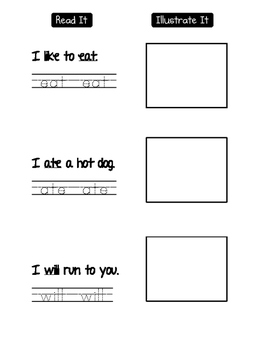 Write, Find, Graph, Read, Illustrate Sight Words EAT WILL ATE