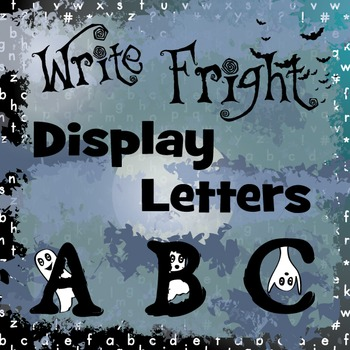 Write Fright Display Letters