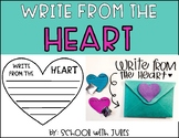 Write From The Heart - Classroom Kindness Writing
