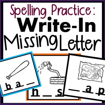 Write In Missing Letter In Words