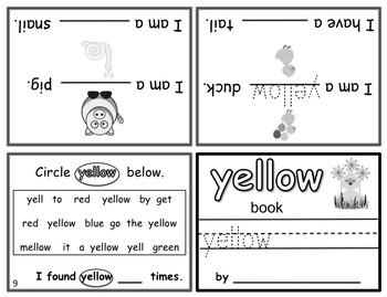 Write-In Rhyming Mini Color Word Books - 12 Books!