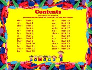 Write-In Rhyming Mini Sight Word Books Fry Words 1-25 Printable
