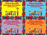 Write-In Rhyming Mini Sight Word Books 100 Fry Words BUNDL