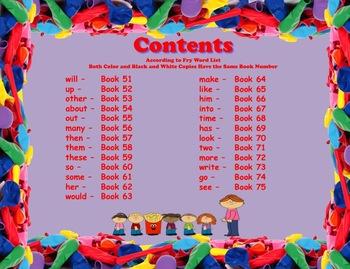 Write-In Rhyming Mini Sight Word Books Fry Words 51-75 Printable