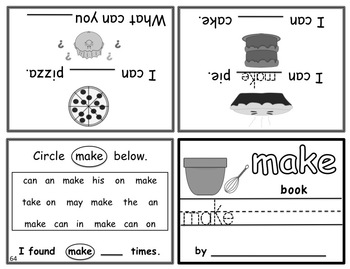 photograph about Sight Word Printable Books called Produce-Inside of Rhyming Mini Sight Term Textbooks Fry Words and phrases 51-75 Printable