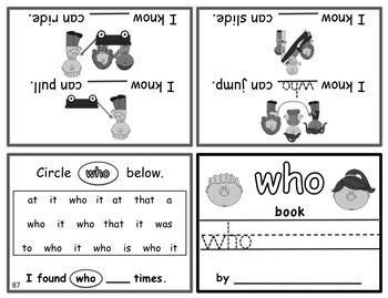 photo relating to Sight Word Printable Books called Create-In just Rhyming Mini Sight Phrase Publications Fry Terms 76-100 Printable 3 Reward Textbooks!