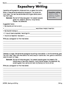 Write Informative Texts 2 (CCSS W.5.2)