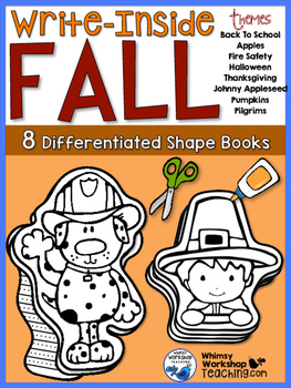 Write Inside FALL (8 Shaped Booklets) Whimsy Workshop Teaching