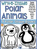 Write Inside Polar Animals (8 Shaped Booklets) Whimsy Workshop Teaching