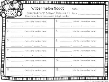 Write It! ~ 3 Ways in 3 Days ~ August Math Task Cards {3-Digit Numbers}