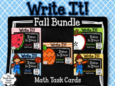 Place Value Math Task Cards ~ Write It! ~ 3 Ways in 3 Days