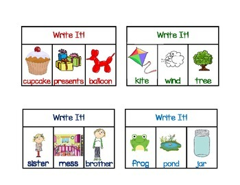 Write It! Activity, Center or Workshop
