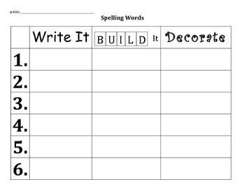 Write It, Build It, Decorate It