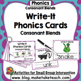 Blends - Write It Phonics Cards for Consonant Blends