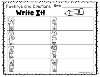 Write It! Feelings and Emotions Writing Center Activities