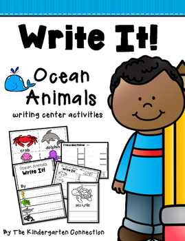 Write It! Ocean Animals Writing Center Activities