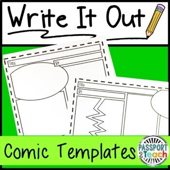 Write It Out: Blank Comic Strip Writing Templates