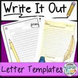 Write It Out: Blank Letter Writing Templates