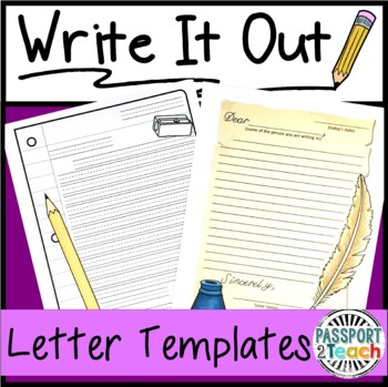 Write it out blank letter writing templates by emily fano tpt write it out blank letter writing templates spiritdancerdesigns Image collections