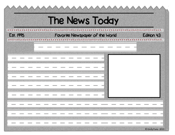 Write It Out: Blank Newspaper Writing Templates