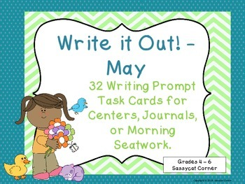 Write It Out - May Writing Prompt Task Cards