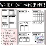 Write It Out! - Number Mats