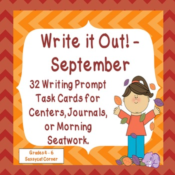 Write It Out - September Writing Prompt Task Cards