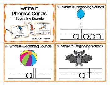Write It Phonics Cards Bundle