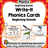 Beginning Sounds - Write It Phonics Cards