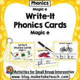 Magic e - Write It Phonics Cards for Magic e