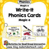 Magic e - Write It Phonics Cards for Magic e