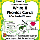 R-Controlled Vowels- Write It Phonics Cards