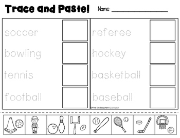 Write It! Sports Writing Center Activities