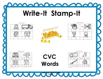 Write-It Stamp-It CVC Words