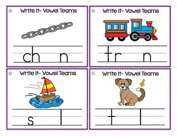 Vowel Teams - Write It Phonics Cards for Vowel Teams