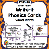 Vowel Teams - Write It Phonics Cards for Vowel Teams