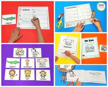 Write It! Zoo Animals Writing Center Activities