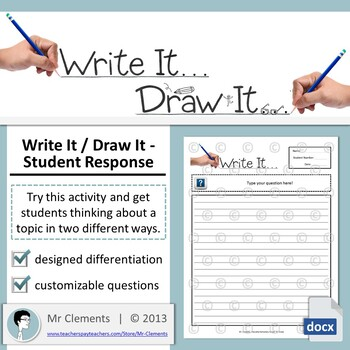 """Write It or Draw It"" - Student Warm Up / Brainstorm Activity"