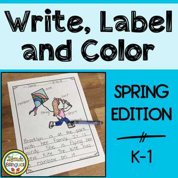 Write, Label and Color - Spring Writing Center