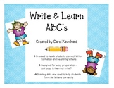 Write & Learn ABC's