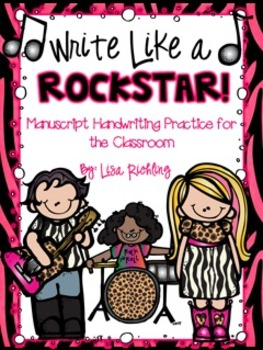 Write Like a Rock Star: Manuscript Handwriting Practice