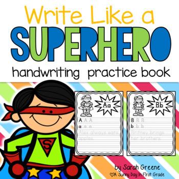 Write Like a Superhero {handwriting practice book}