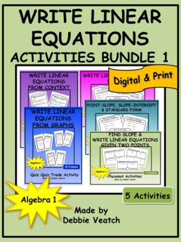 Write Linear Equations Activities Bundle 1