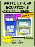 Write Linear Equations Activities Bundle 1  | Digital - Distance Learning