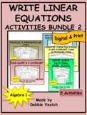 Write Linear Equations Activities Bundle 2