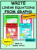 Write Linear Equations From Graphs Activity Bundle