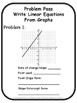 Write Linear Equations From Graphs Problem Pass Activity