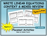 Write Linear Equations In Context & Mixed Review | Digital