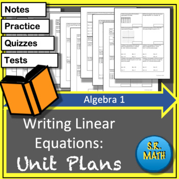 Write Linear Equations Unit Plans: Algebra 1 Keystones